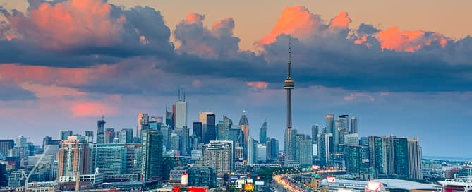 Aerial view of Toronto real estate